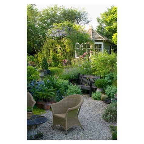 contemporary cottage garden gap photos garden plant picture library seating area