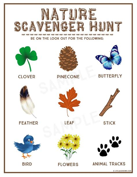 printable toddler scavenger hunt nature scavenger hunt kids summer activity make and takes