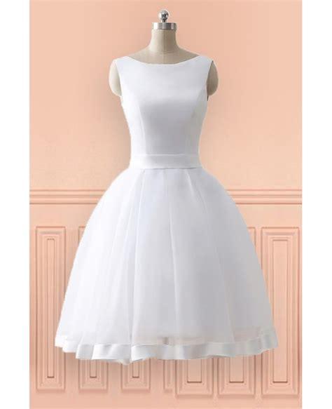 Hochzeitskleider Knielang Schlicht by Cheap Knee Length Simple Wedding Dress With Open Bow