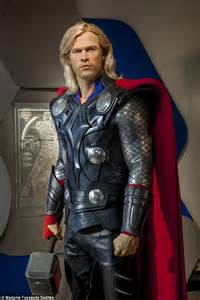 movie quality thor costume chris hemsworth s thor waxwork appears in sydney harbour