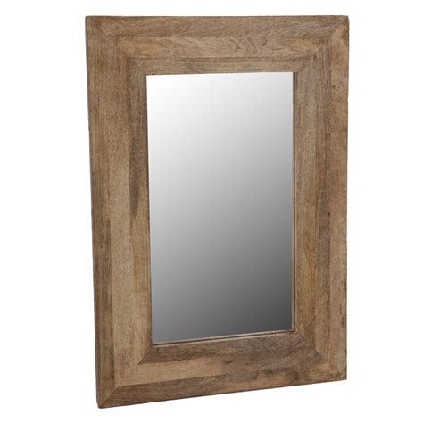 hanging bathroom mirrors with frame wall mirror wood frame mirror hanging mirror mango natural