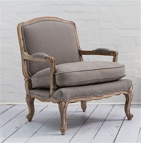 armchair french style lille chair in putty grey country