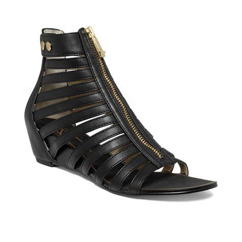 report signature sandals report signature melody demi wedge sandals in black lyst