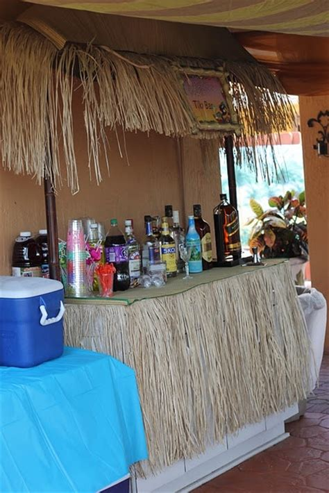 themed parties for bars tiki bar for luau themed party birthday shower ideas