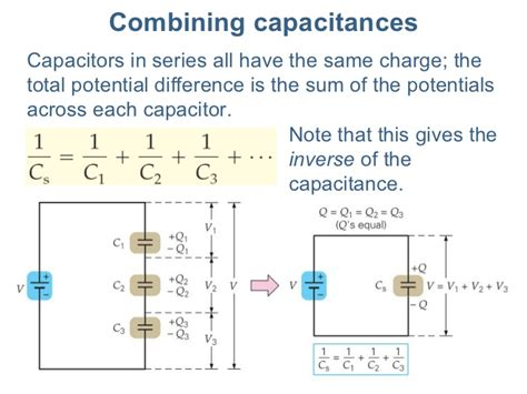 potential difference across two capacitors in series lecture22 capacitance