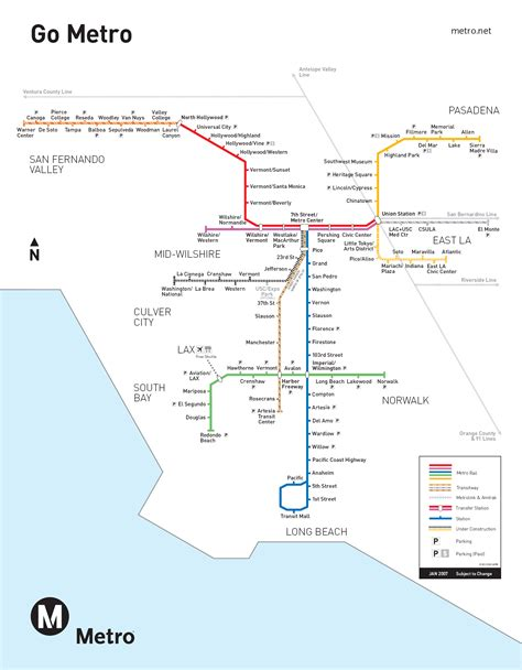 los angeles subway map metro map of los angeles metro maps of united states planetolog