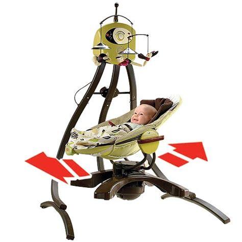 baby swings head side to side zen collection cradle swing