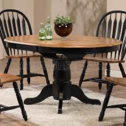 Rustic Round Dining Room Tables Missouri Round Dining Room Set Black Rustic Oak Eci