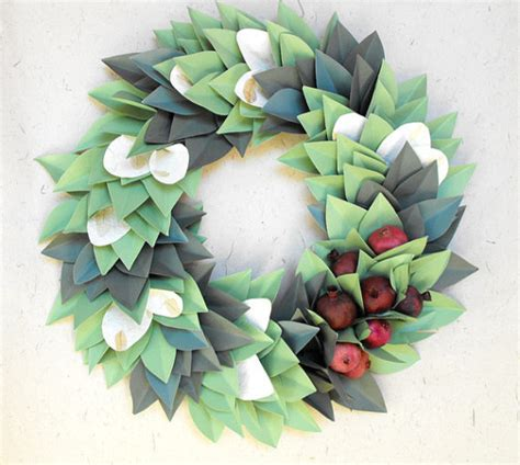 Ceiling Decor Ideas Australia holiday christmas paper wreath by moonflower nature art