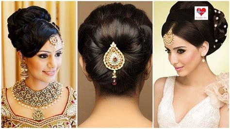 indian bridal hairstyles youtube indian bridal hairstyles low bun image for fashion