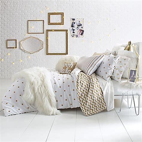 glam bedding glam polka dot reversible comforter set bed bath beyond