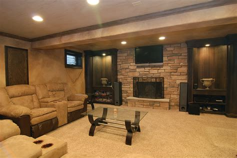 basement living room designs