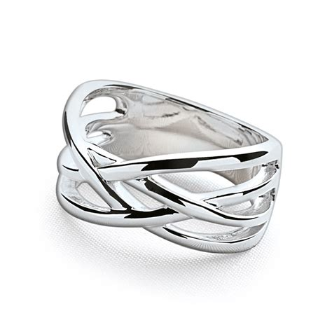 silver weave ring silver rings silver by mail