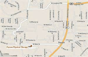 map of payson arizona payson physical therapy contact us