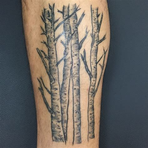 aspen tree tattoo briyuntattoos mostly healed still a shine stipple