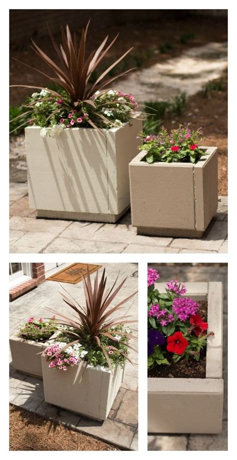 Diy Concrete Planters Using Pavers Simple And Inexpensive How To Make A Cheap Patio