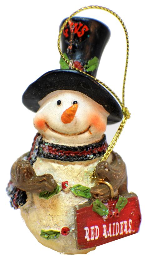 college christmas college tech raiders ncaa licensed snowman ornament dragonfly