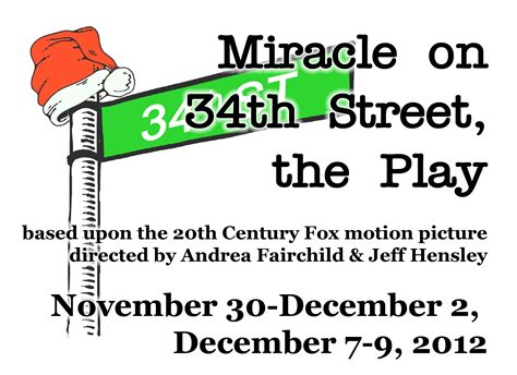 The Miracle Season Poster Miracle On 34th Vicksburg Theatre Guild