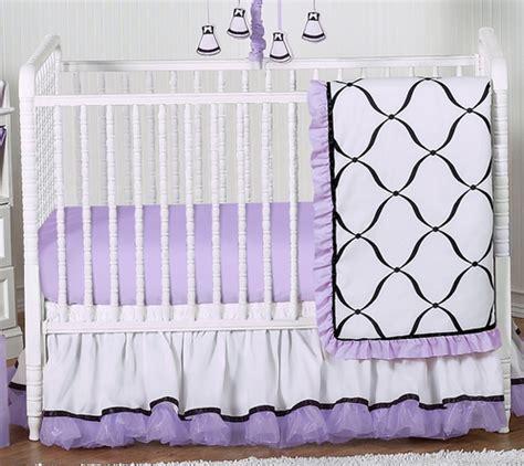 Purple Princess Crib Bedding by Purple Black And White Princess Baby Bedding 11pc Crib