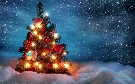 free cute christmas tree computer desktop wallpaper