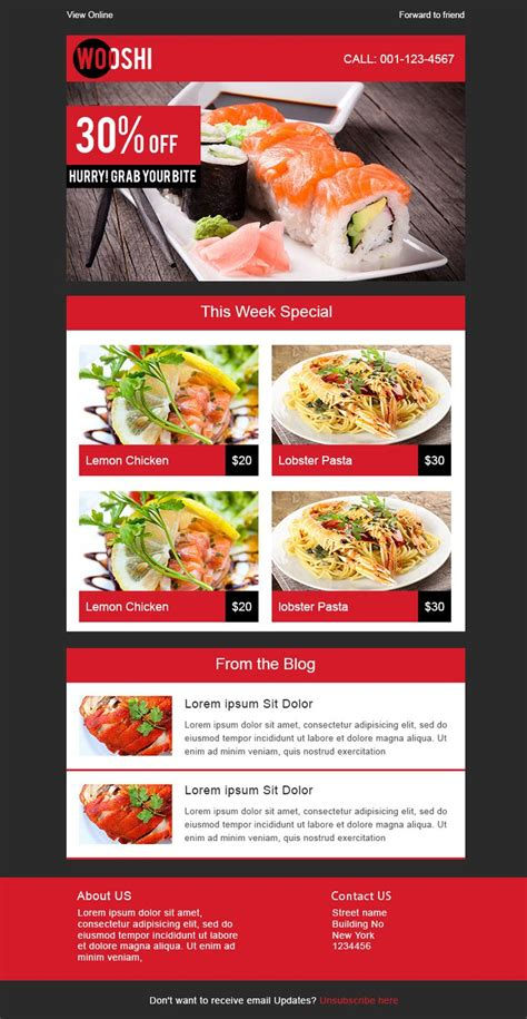 7 free responsive email templates design pinterest
