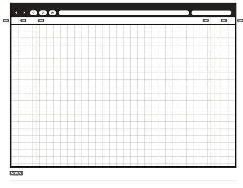 printable sketching  wireframing templates