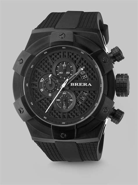 brera orologi supersportivo chronograph in black for