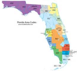 florida area code map florida area codes