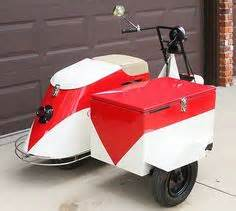1945 Cushman Model 52 Pacemaker Motor Scooter Blue With