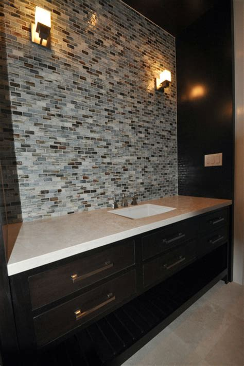 bathroom glass tile backsplash contemporary tile