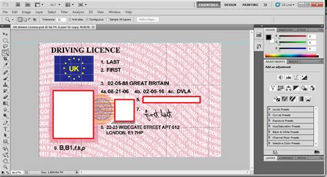fake id free templates