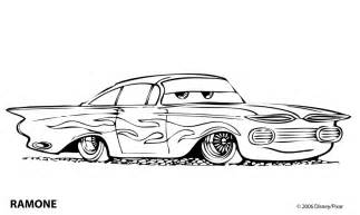Flo Cars Colouring Pages sketch template
