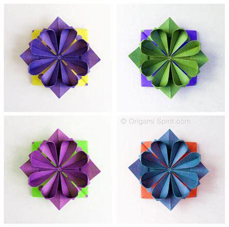fiori origami tutorial origami come fare fiore geometrico tutorial