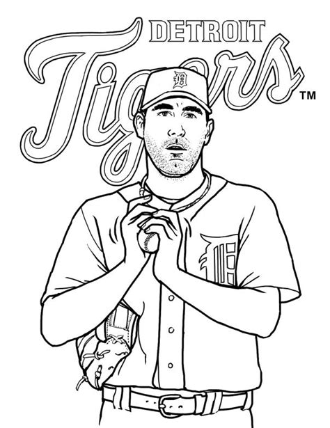 detroit tigers free coloring pages