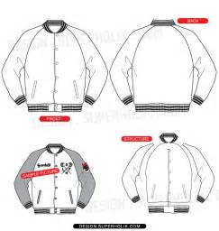 Varsity Jacket Template Psd by Raglan Varsity Jacket Template Set Hellovector
