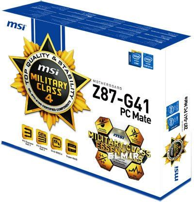Motherboard Msi Z87 G41 Pc Mate s 1150 z87 msi z87 g41 pc mate atx