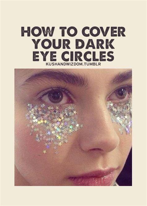 Eye Meme - how to hide eye circles roots blemishes with glitter
