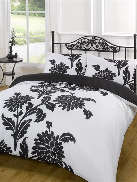 Bed Quilt Cover by Duvet Quilt Cover Bedding Set Black White Single King Kingsize King Ebay