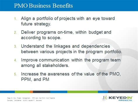 Benefits Of Mba Degree To A Company by The 5 Most Important Business Benefits Of A Successful Pmo