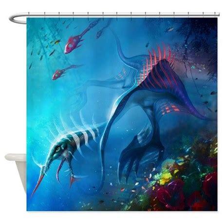 monster shower curtain sea monster shower curtain by showercurtainshop