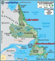 newfoundland map canada province of newfoundland canada map