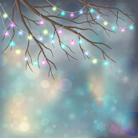christmas light bulbs on xmas night background