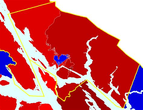 District Number For The Mat Su Borough - alaska results map by house district