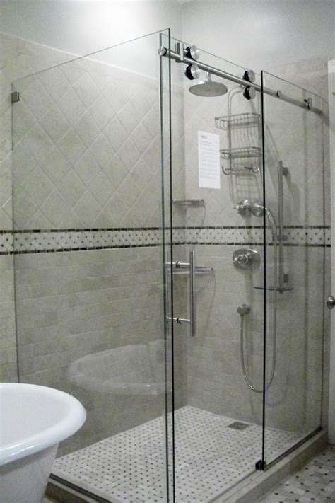 Hinged Glass Shower Door Repair Shower Mirror Capital