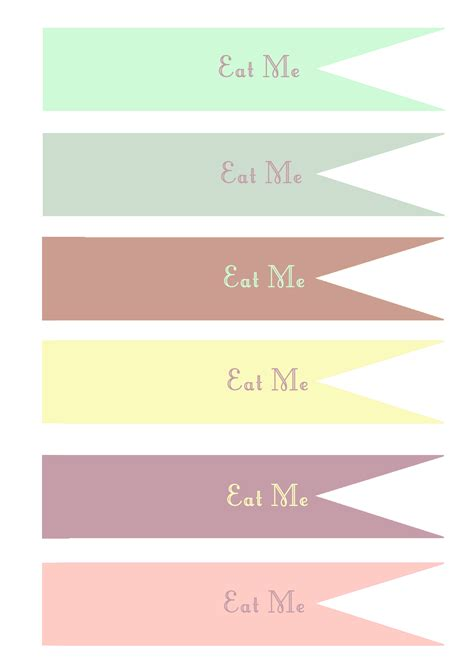 cupcake banner template eat me cake and food toppers free template handmade