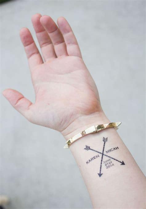 tattoo name with arrow arrow wedding tattoos arrow personalized with couple s