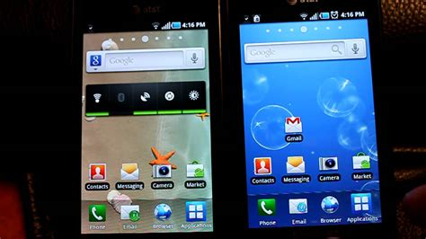 android eclair captivate with froyo 2 2 vs captivate with eclair 2 1