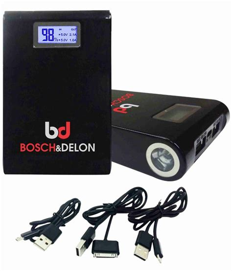 bosch bank bosch delon 10000mah power bank with charging cable