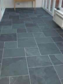 Slate tile flooring patterns