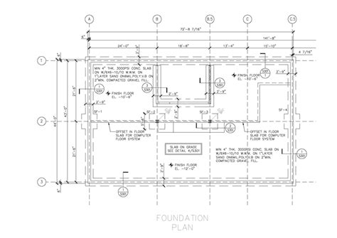 Foundation Plan Drawing | structural drafting structural drawings sles just 10 hr